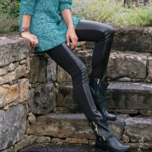 Soft Surroundings Leather Panel Pants 477